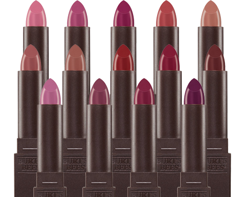 three rows of lipsticks